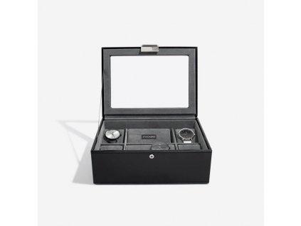 Kazeta na hodinky Stackers Black 8 Piece Watch Box | černá