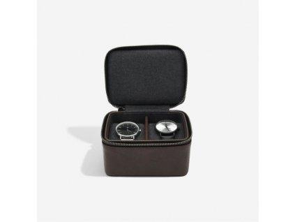 Pánská cestovní šperkovnice na hodinky Stackers Brown Large Travel Watch Box | hnědá