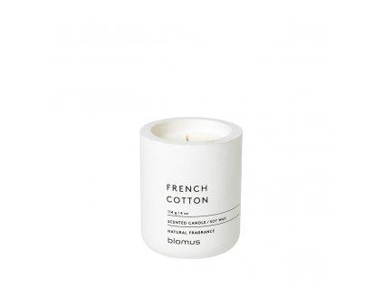 Vonná svíčka Blomus Fraga S French cotton   bílá