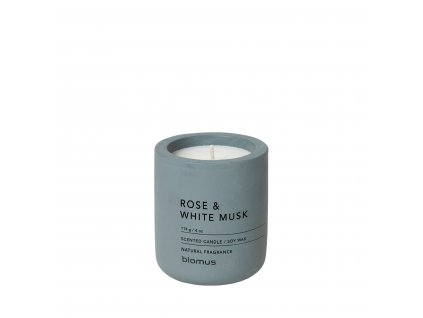 Vonná svíčka Blomus Fraga S Duft rose   šedá