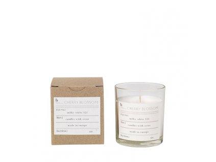 Vonná čajová svíčka Broste Cherry blossom | bílá