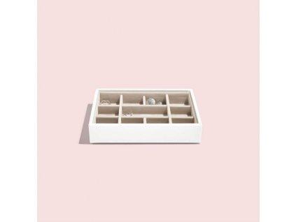 Box na šperky Stackers White Mini 11   bílá