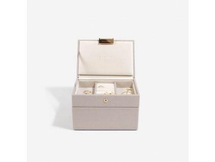 Šperkovnice Stackers Taupe Mini | šedobéžová