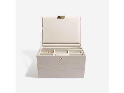 Šperkovnice 3 v 1 Stackers Taupe Classic Set   šedobéžová
