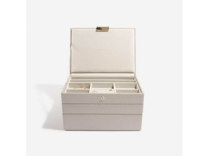 Šperkovnice 3 v 1 Stackers Taupe Classic Set | šedobéžová
