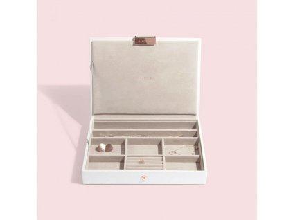 Šperkovnice Stackers White Rose Gold Classic Lid | bílá
