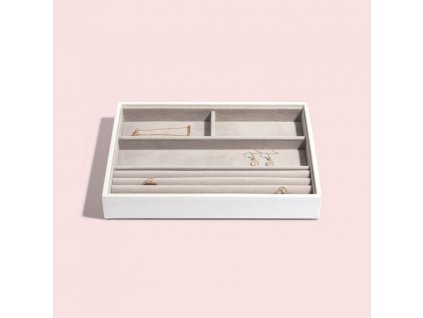 Box na šperky Stackers White Classic Ring & Braclets | bílá