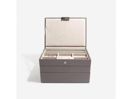 Šperkovnice 3 v 1 Stackers Mink Classic Set | kávová