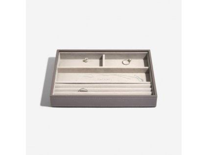 Box na šperky Stackers Mink Classic Ring & Braclets | kávová