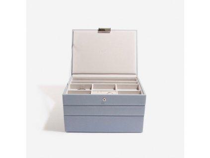 Šperkovnice 3 v 1 Stackers Dusky Blue Classic Set | modrošedá