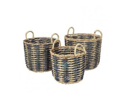 Sada 3 košíků Broste Kamilla Sea   zelenomodrá