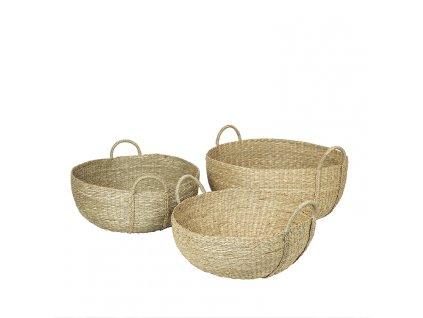 Sada 3 košíků Broste Astrid Sea Grass   přírodní
