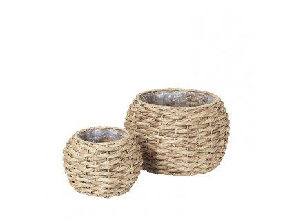 Sada 2 kulatých košíků Broste Kamilla Sea Grass | přírodní