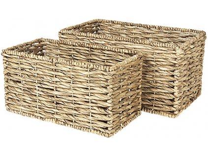 Sada 2 hranatých košíků Broste Kamilla Sea Grass | přírodní