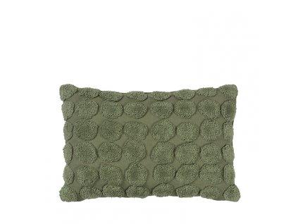 Polštář obdélníkový Broste Helle 60x40 cm | zelený