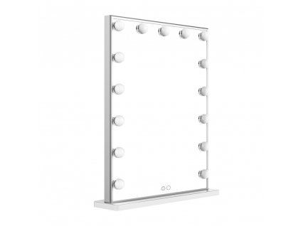 Hollywoodské make-up zrcadlo s osvětlením MMIRO 42 x 51 cm | stříbrná