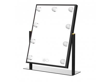 Hollywoodské make-up zrcadlo s osvětlením MMIRO 37 x 43,5 cm | černá