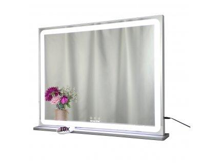 Hollywoodské make-up zrcadlo s osvětlením MMIRO 72 x 56 cm | stříbrná