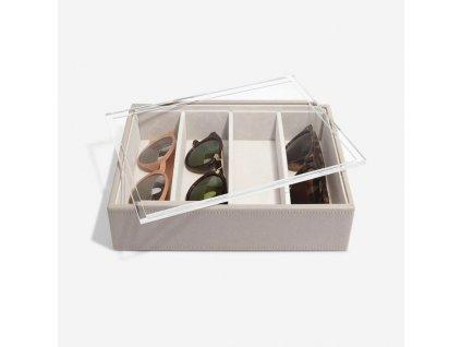 Box na slunečné brýlí Stackers Taupe Classic Glasses/Accessory   šedobežová
