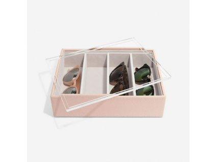 Box na slunečné brýlí Stackers Blush Classic Glasses/Accessory | růžová