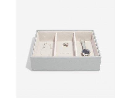 Box na šperky Stackers Pebble Grey Deep Watch/Accessories | šedá