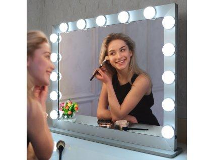 Stolní zrcadlo make-up MMIRO 70 x 55,2 cm | stříbrná