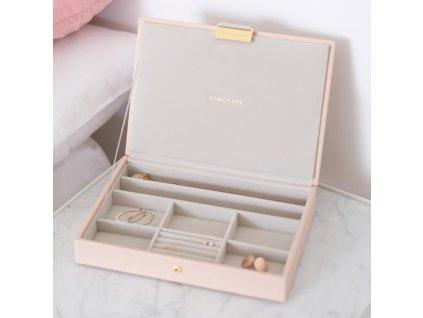 Šperkovnice Stackers Blush & Champagne Gold Classic Lid | růžová