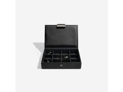 Pánská šperkovnice Stackers Black Lidded Mini Cufflink Box | černá