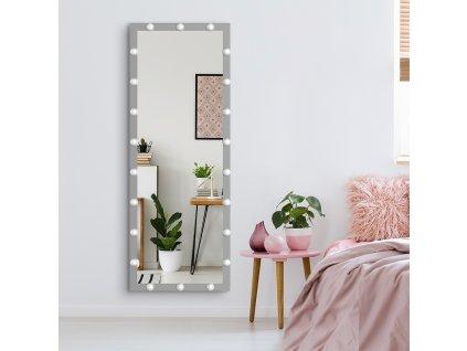 Stojací zrcadlo MMIRO 160 x 60 cm | stříbrná