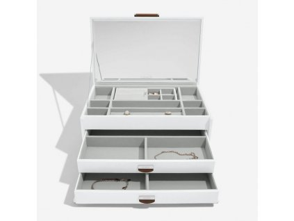 Šperkovnice Dulwich Notting Hill White Large Jewellery Box | bílá