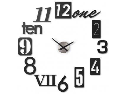 Nalepovací nástěnné hodiny Umbra Numbra | černé