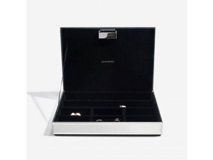 Šperkovnice Stackers Glitter Glass Classic Jewellery Box Lid | růžová