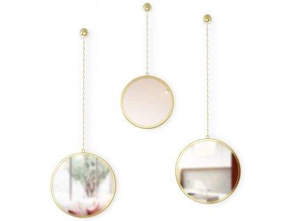 Sada kulatých zrcadel Umbra Dima 3 ks   mosazná