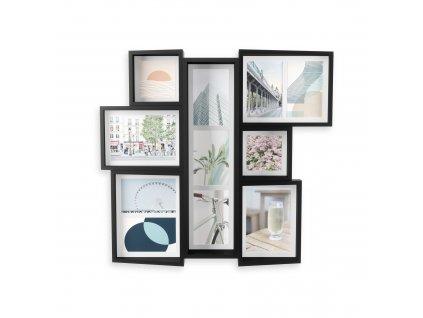 Fotorámeček Umbra Edge Multi Wall | černá
