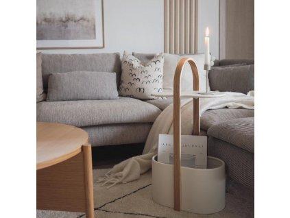 Odkládací stolek Umbra Bellwood | bílá, přírodní