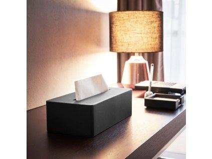 Zásobník na papírové kapesníky YAMAZAKI 4216 | černá