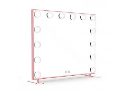 Hollywoodské make-up zrcadlo s osvětlením MMIRO 60 x 53 cm | rose gold