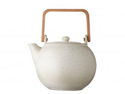 Konvička na čaj se sítkem Bitz Teapot Matte Cream 1.2 L | krémová