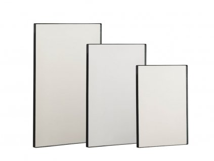 Sada zrcadel Villa Collection Black, 3ks | Černá