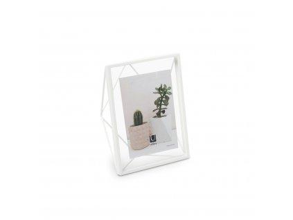 Geometrický fotorámeček Umbra Prisma 13 x 18 cm | bílý
