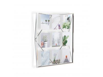 Geometrický fotorámeček na 9 fotek Umbra Prisma Gallery | chromový