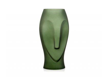 Skleněná váza Andea House Owl CR70133 | zelená