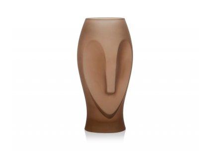 Skleněná váza Andea House Owl CR70136 | hnědá