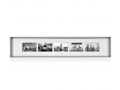 Kovový fotorámeček na 5 fotek Andrea House | stříbrný