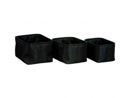 Sada košů na ručniky Andrea House (3ks) | Černý