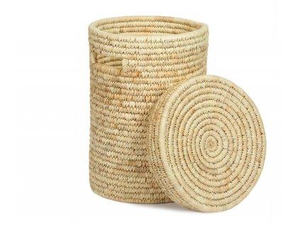 Koš na prádlo Andrea House Palm Leaf Laundry Basket