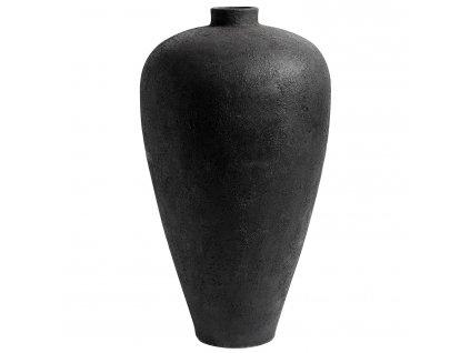 Ručně tvarovaná váza Muubs Luna, 100 cm | černá