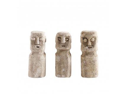 Kamenné sošky Muubs RAW 3ks  | přírodní