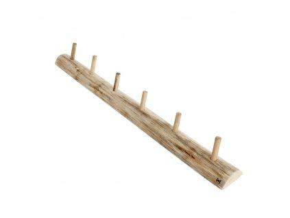 Věšák s 6-ti háčky dřevěný Muubs Alon L  | přírodní
