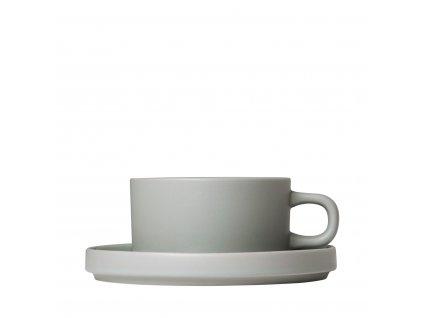 Šálek na čaj Blomus PILAR SET/2ks | šedý